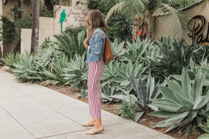 layer your jumpsuits with a denim jacket for spring!