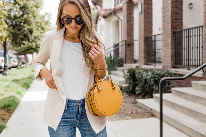 Pair a blazer with some jeans for a casual work look