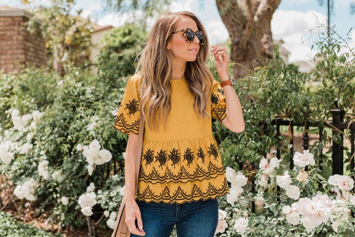 a unique and fun top for spring and summer