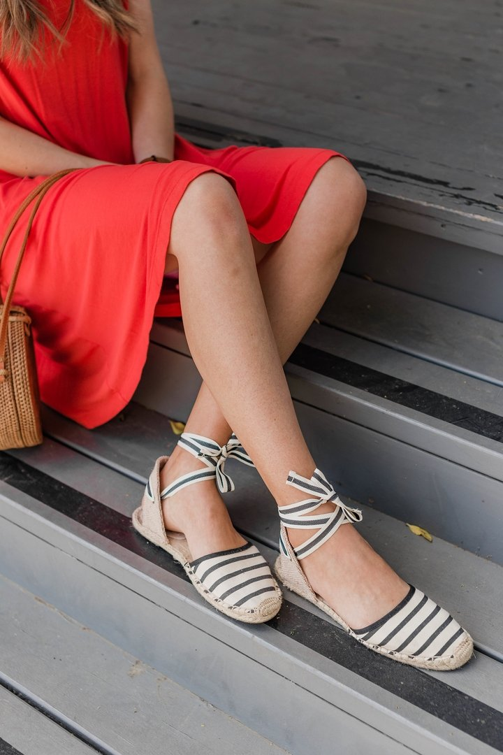 striped espadrille sneakers