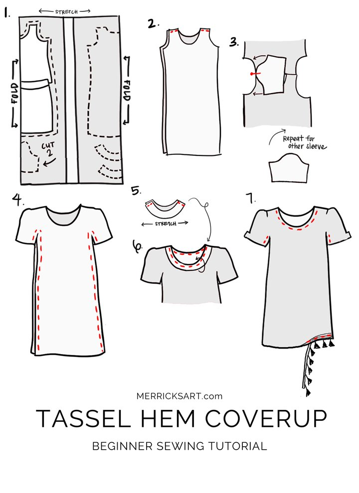 learn how to make this easy coverup for beach or pool days!