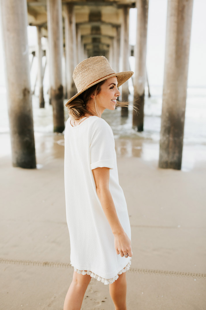 an easy beach coverup DIY
