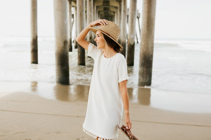 loving this simple DIY beach coverup