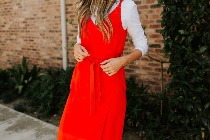 the prettiest poppy red dress for summer