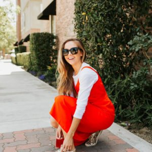obsessed with this bright red wrap dress for summer