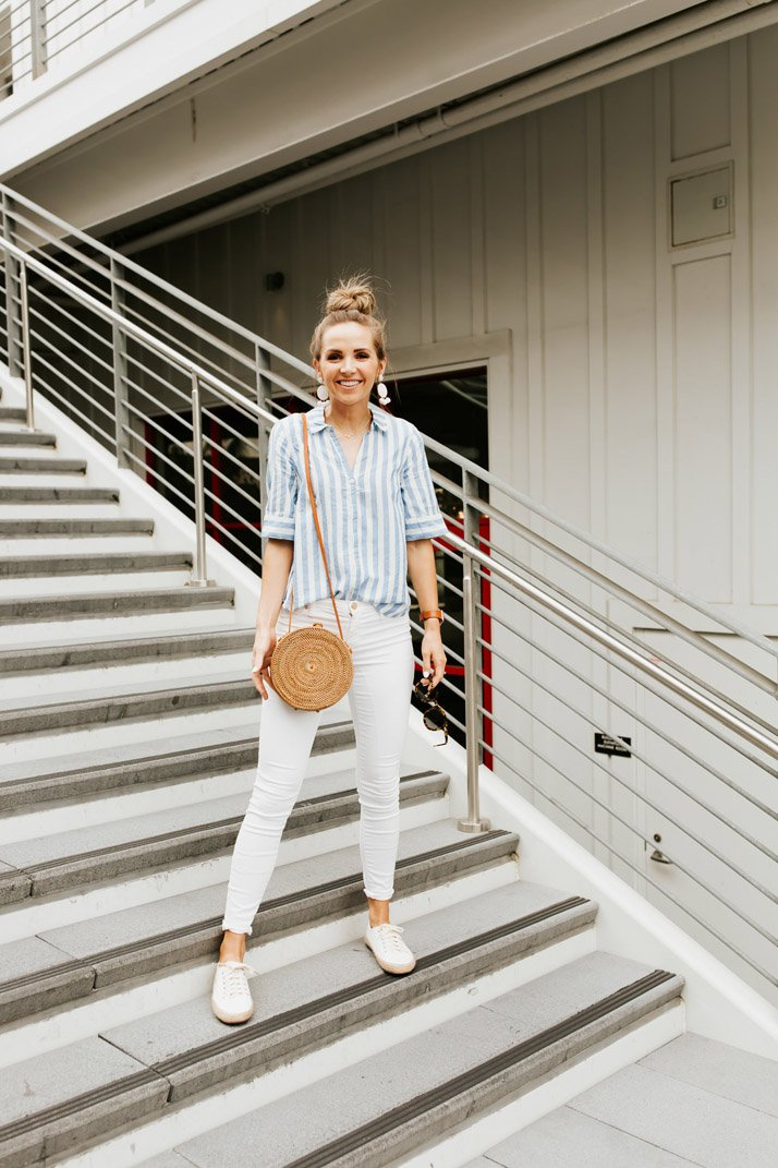 an easy striped shirt for a weekend getaway