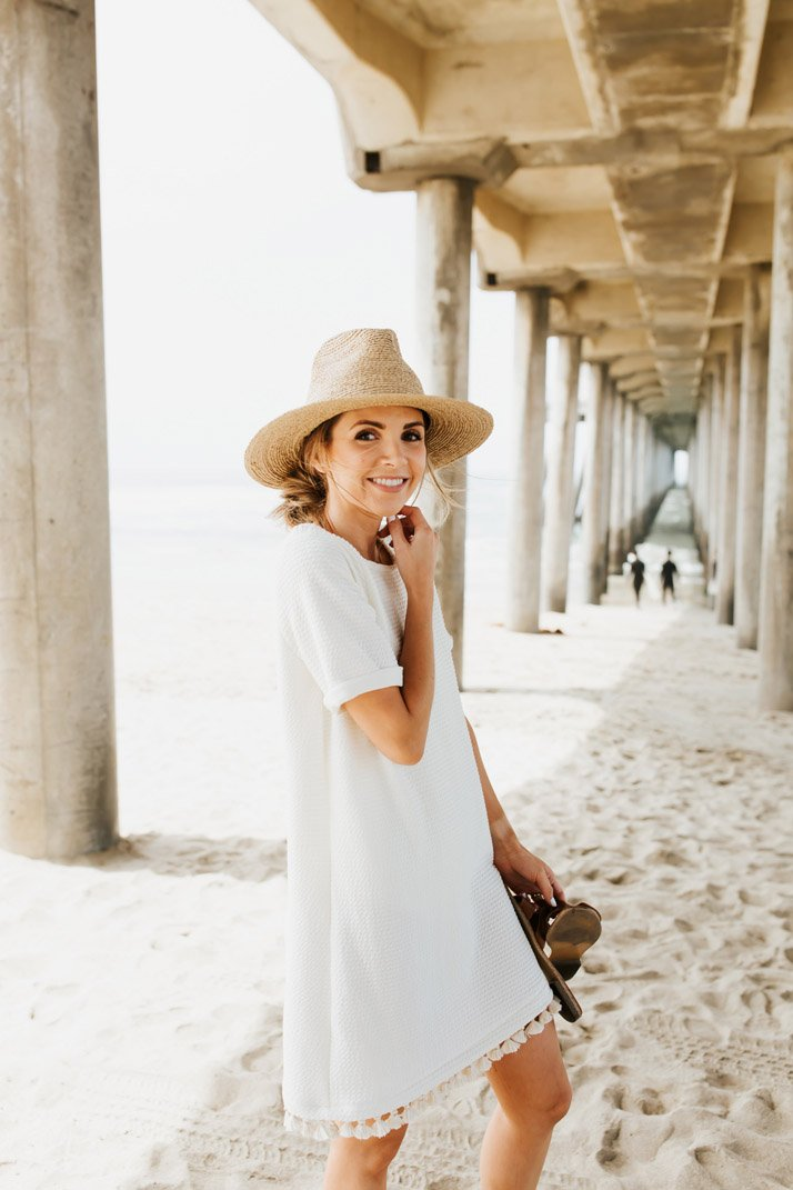 an easy beach coverup you can make yourself!