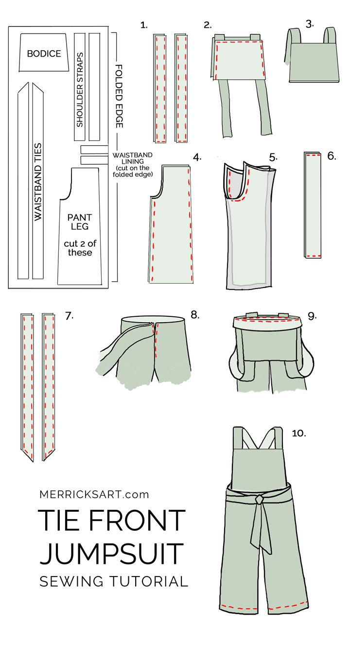how to make a summer jumpsuit intermediate sewing tutorial