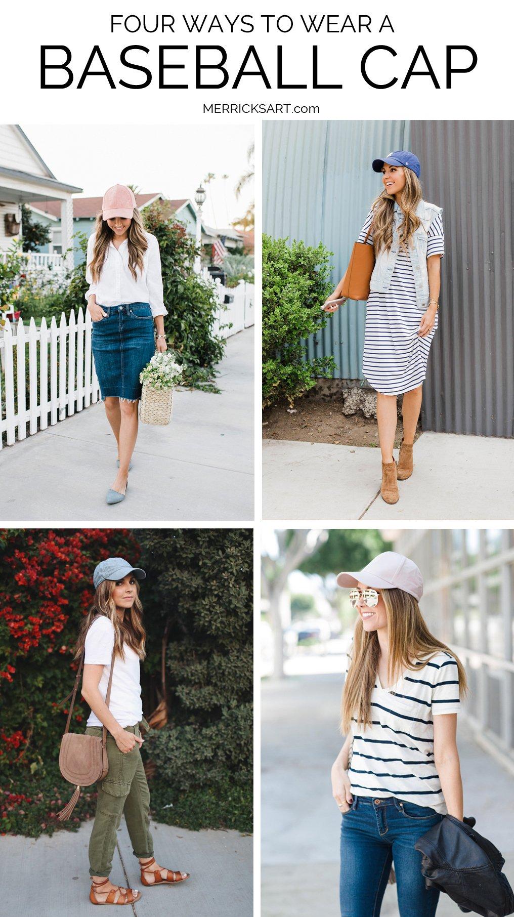 four ways to wear a baseball cap this summer
