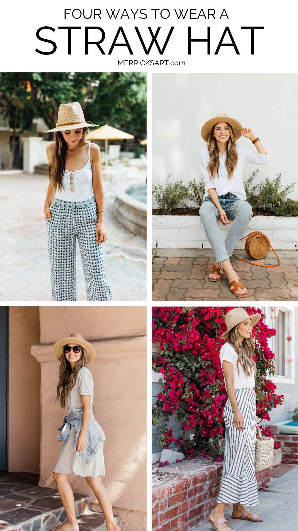 lots of inspiration from these four ways to wear a straw hat