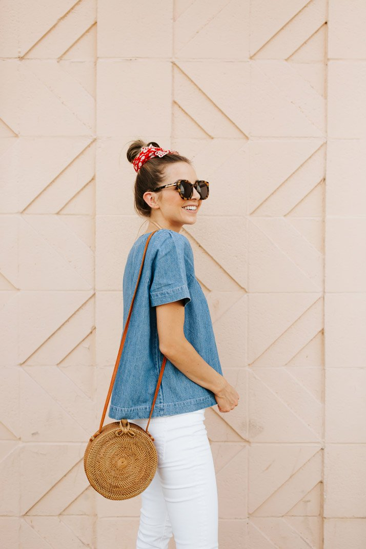 an easy denim top for summer