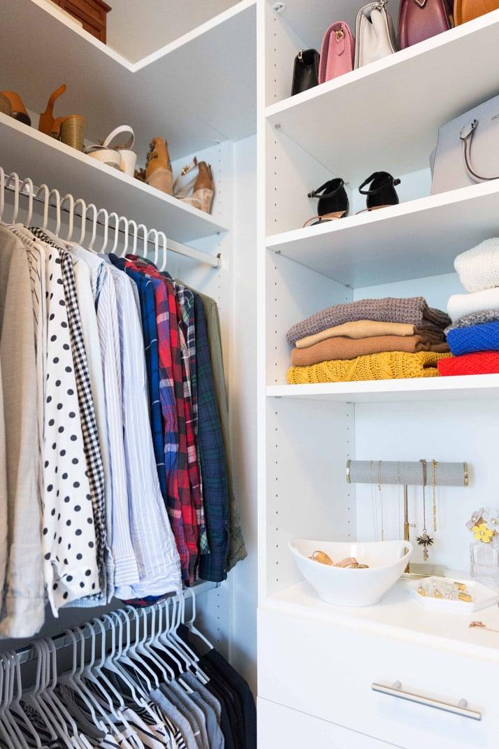 easy tips for closet organization