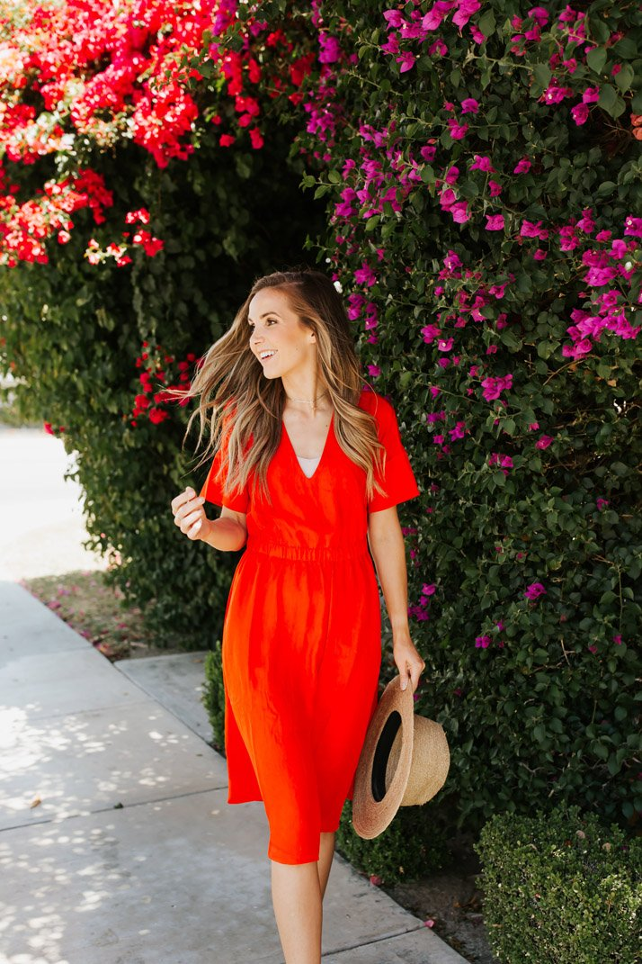 This easy summer dress also comes in navy, olive, and black!