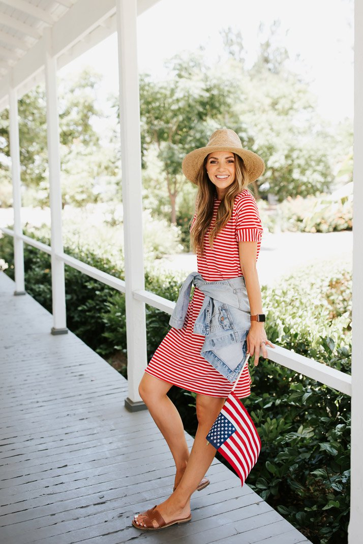 ab5deffc197 How to Make a Striped T Shirt Dress (Perfect for the 4th of July ...