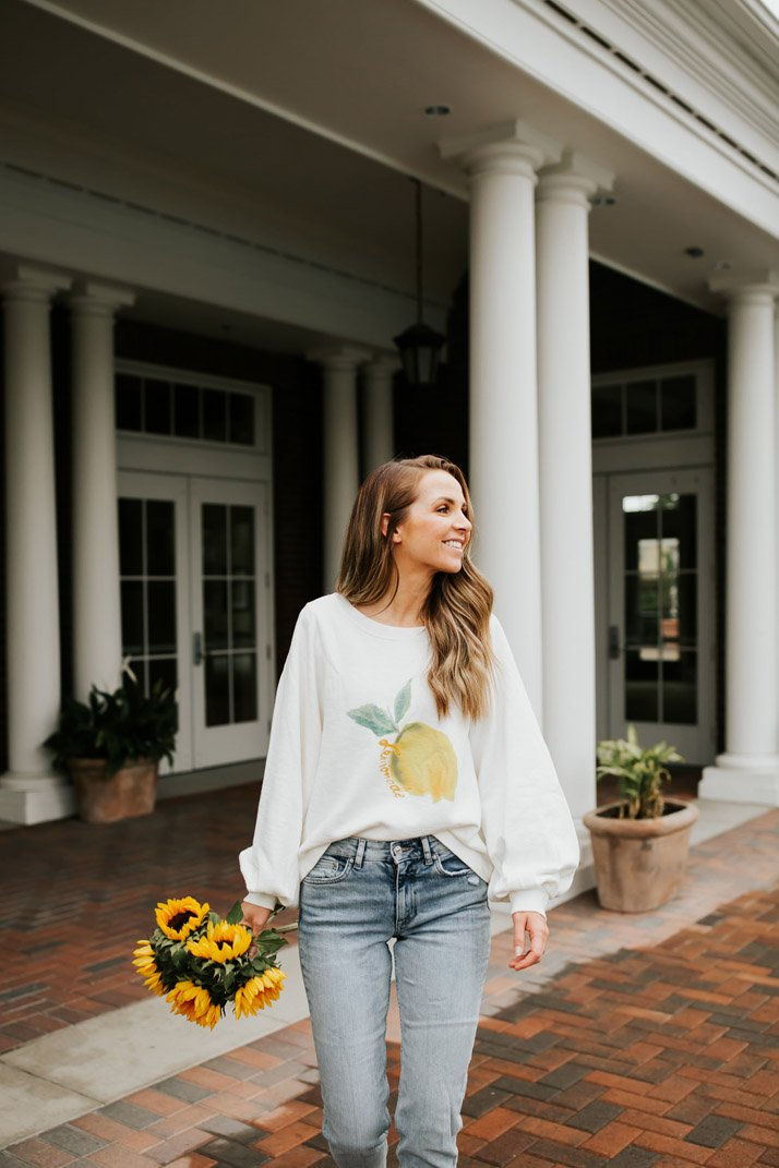 obsessed with this kate spade saturday sweatshirt I found on ebay