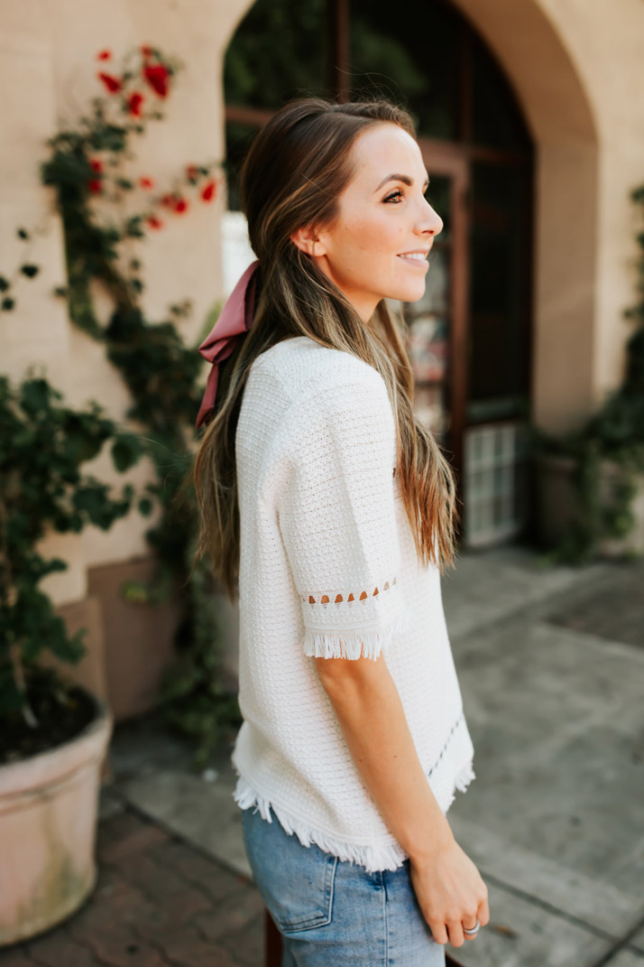 summer short sleeve sweater