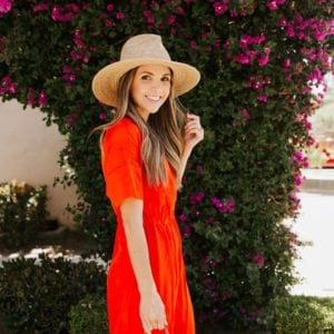 toss on a straw hat with your summer dress and you're good to go