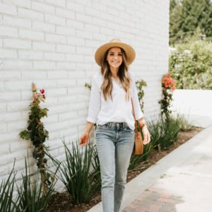 a simple, chic, understated outfit for summer