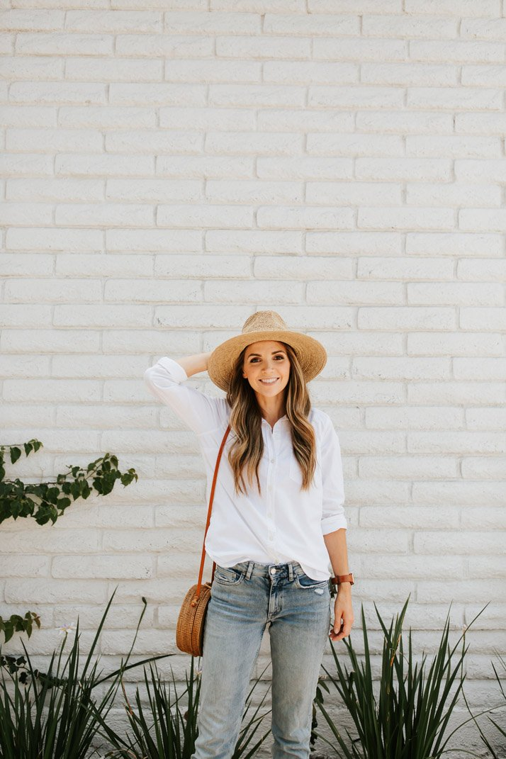 This straw hat is perfect for everyday