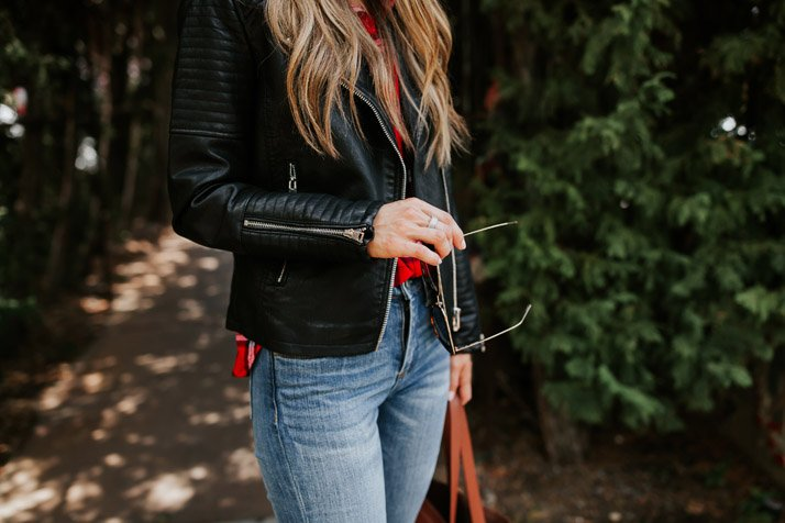 this quilted leather jacket is so perfect for fall