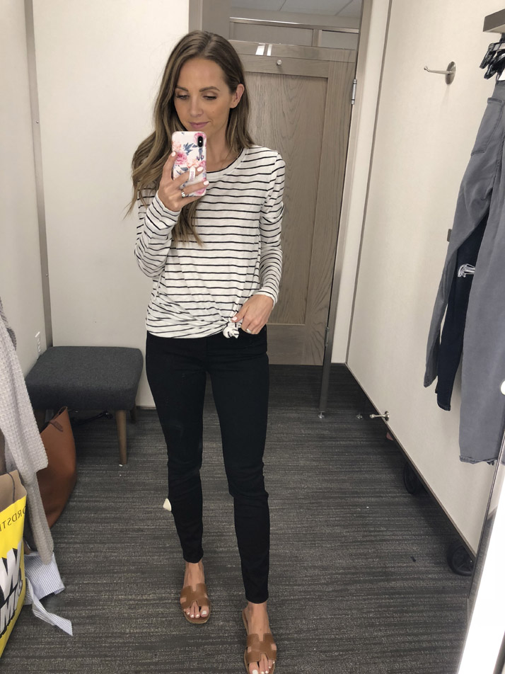 an easy black and white outfit