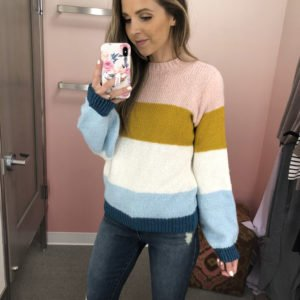 love this colorful sweater I found in the #nsale!