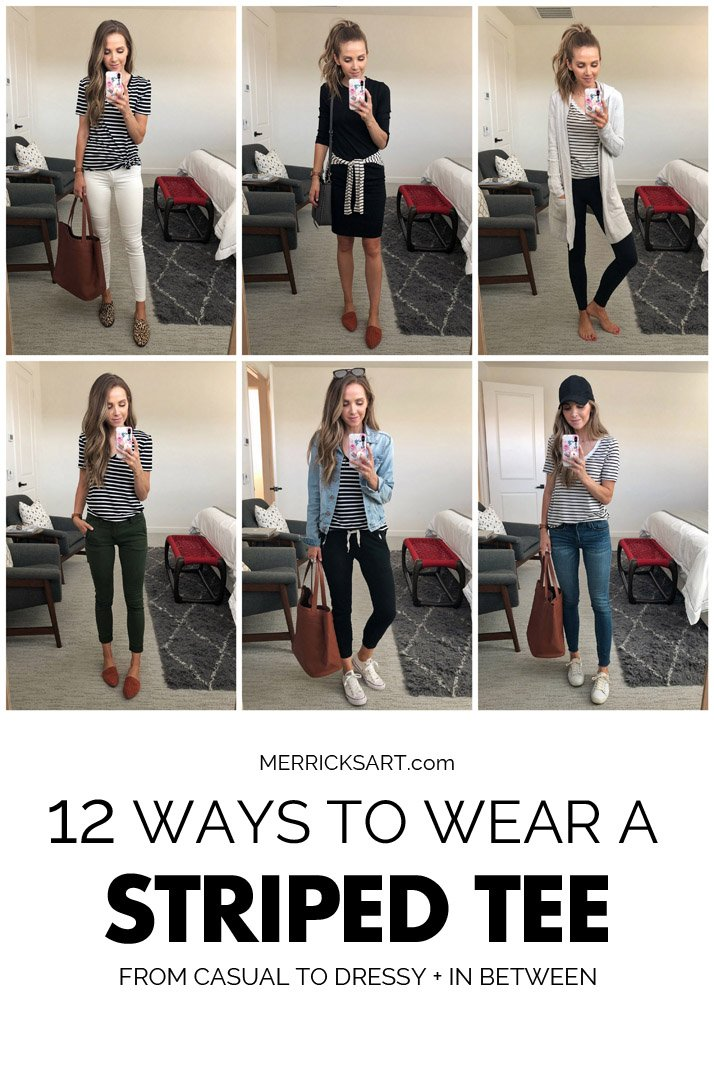 12 ways to wear a striped tee