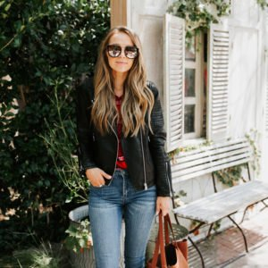 a cute fall outfit you can buy now and wear when it cools down