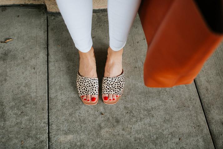 leopard flat sandals