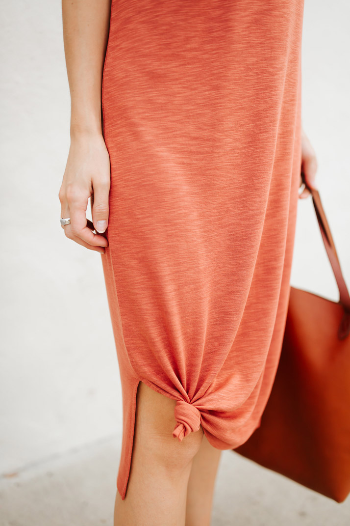 knotted tshirt dress