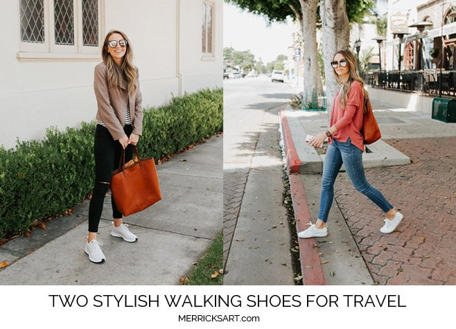two stylish walking shoes for travel