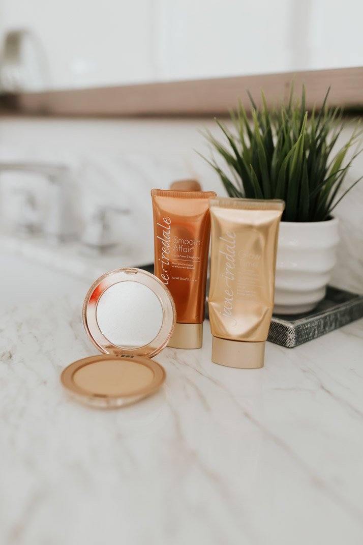 jane iredale primer, bb cream, and pressed powder