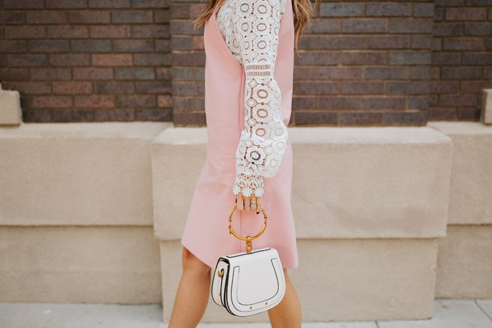 jumper dress in pink
