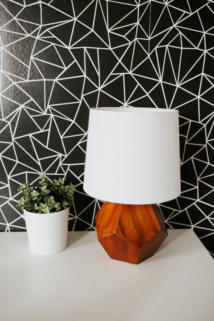geometric lamp from land of nod