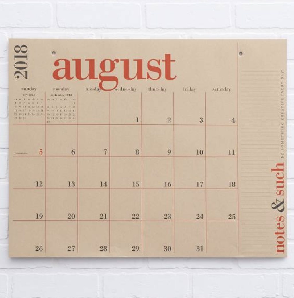 paper source large calendar