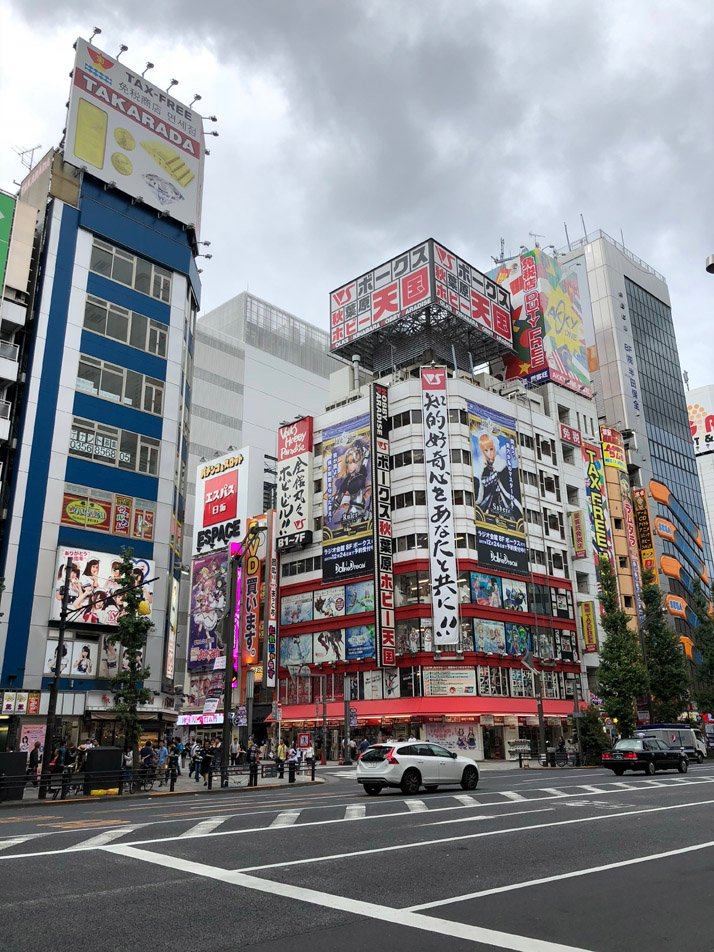 Akihabara area in Tokyo