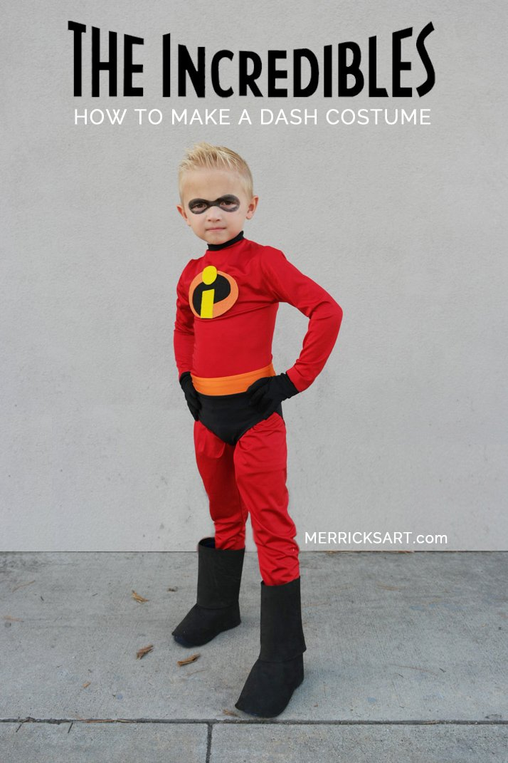 diy halloween costume for dash from the incredibles