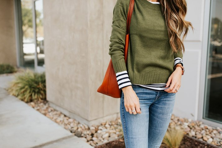 layering with stripes