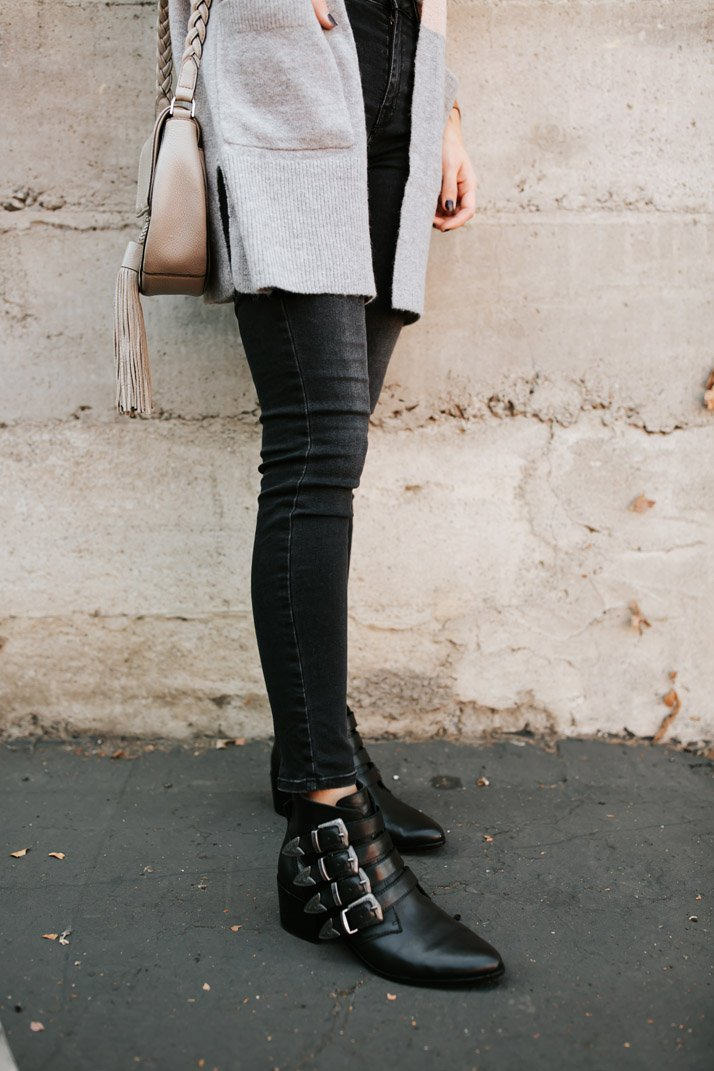black ankle boots for fall