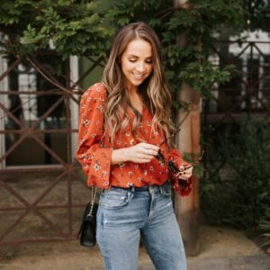 evereve jeans and top