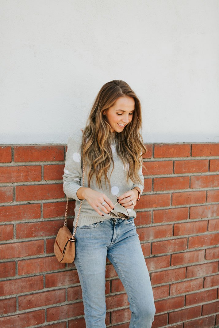 jeans and sweater