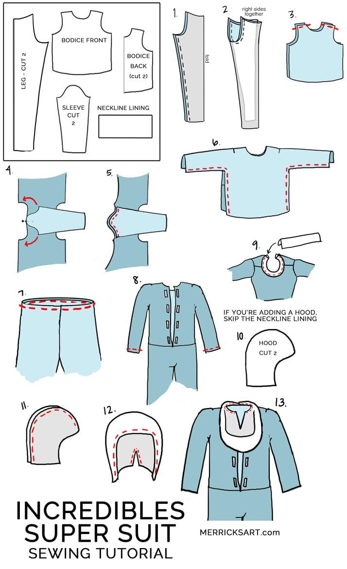 DIY Incredibles Halloween Costumes (Dash, Frozone, and Jack Jack ...