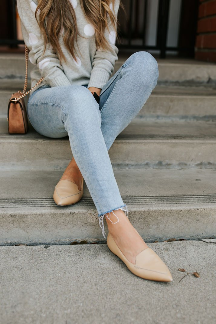 obsessed with these nude pointed flats from M.Gemi