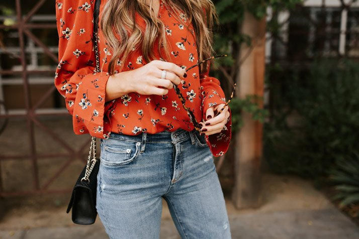 floral blouse from evereve