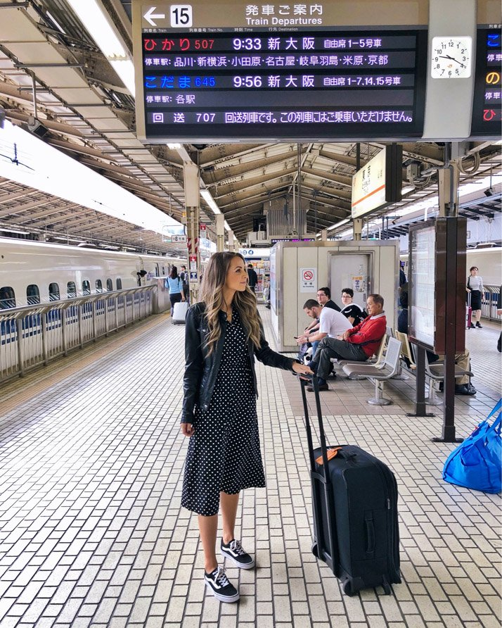 taking the bullet train to osaka from tokyo