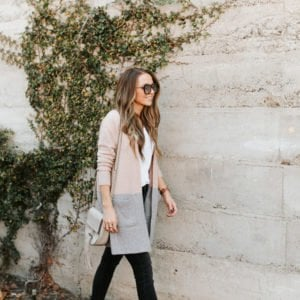 the prettiest two toned cardigan from Madewell