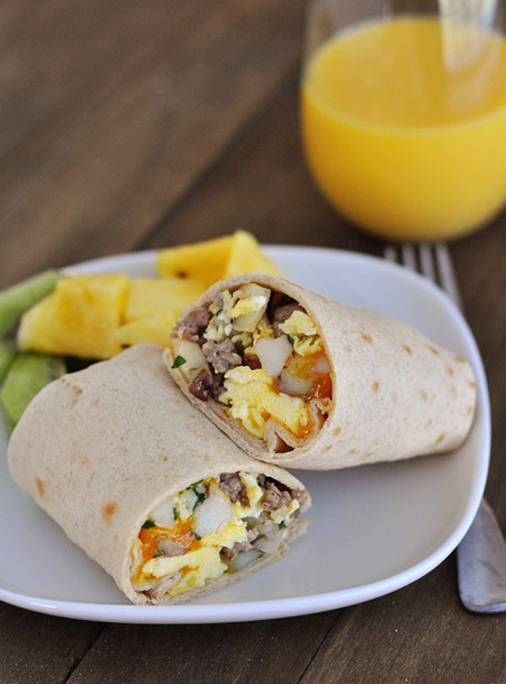 delicious and easy breakfast burritos for dinner