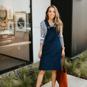 how to make this easy corduroy dress