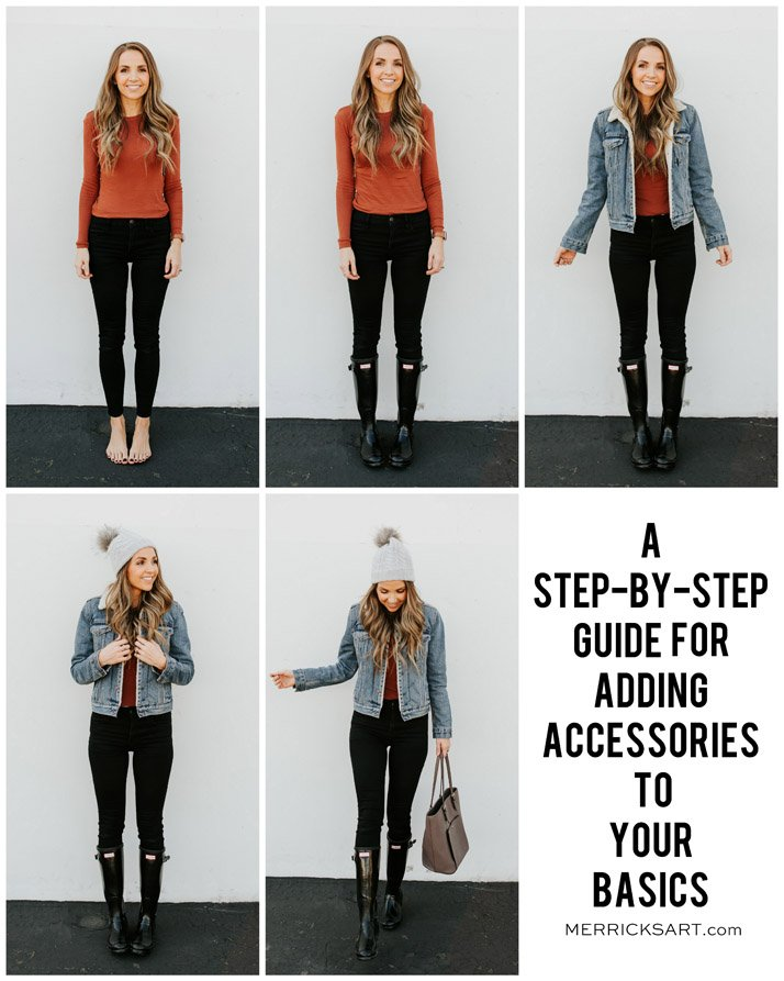 five easy steps to take a basic outfit and make it perfect for fall with accessories!