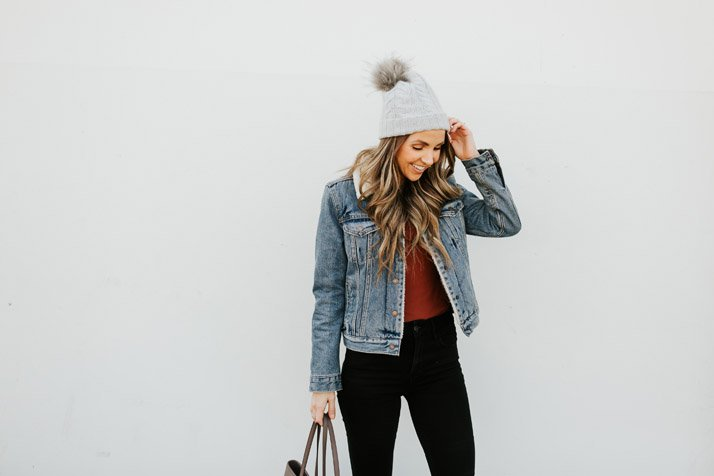 add a cute beanie to any outfit to make it feel cute and finished